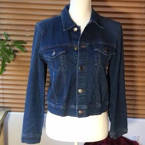 INC stretch denim Jean jacket.